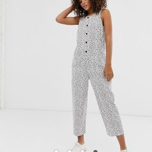 ASOS • Spotted Button up Jumpsuit